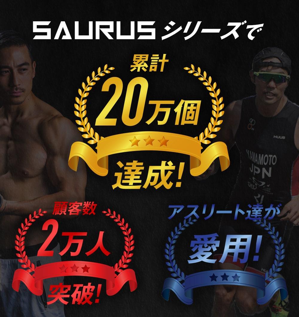 SAURUSシリーズで累計10万個達成!顧客数1万人突破!アスリートたちが愛用!